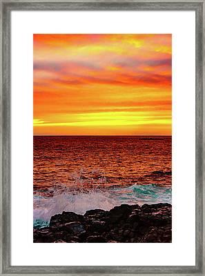 Simple Warm Splash Framed Print