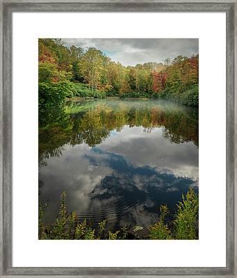 Sims Pond Blowing Rock North Carolina Framed Print