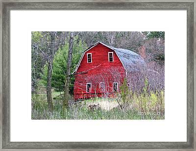 Sinking Barn Framed Print
