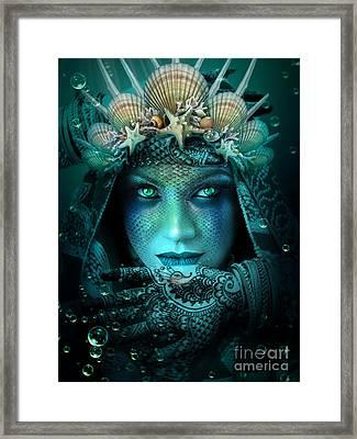 Sister Green Eyes Framed Print