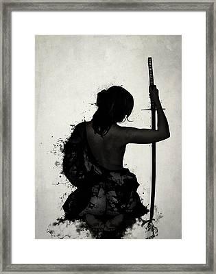 Female Samurai - Onna Bugeisha Framed Print