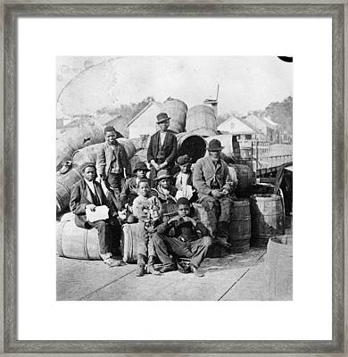 Sitting With Cargo Framed Print by Hulton Archive