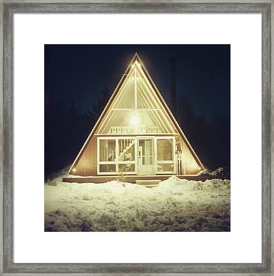 Skaal House In Stowe Framed Print by Slim Aarons