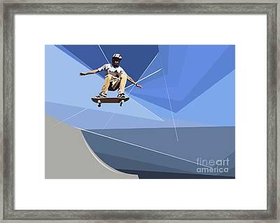 Skateboarder Framed Print