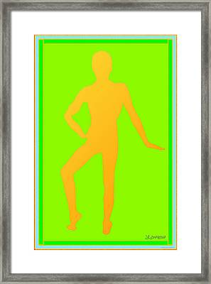 Sketch Of A Male Framed Print by Laurence Wolfe