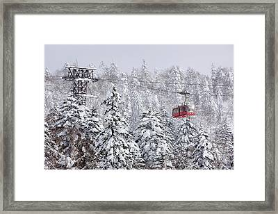 Ski Lift On Asahidake, Daisetsuzan Framed Print by Radius Images