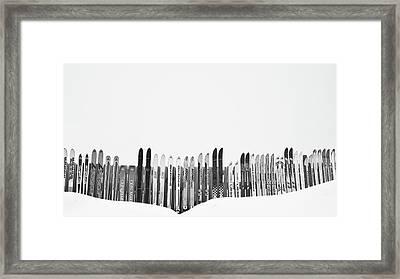 Ski Season Framed Print by Dana Klein