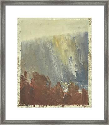 Skogklaedd Fjaellvaegg I Hoestdimma- Mountain Side In Autumn Mist, Saelen _1237, Up To 90x120 Cm Framed Print