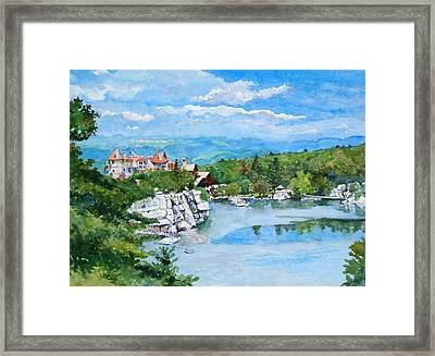Sky Lake, Mohonk Framed Print by Mira Fink