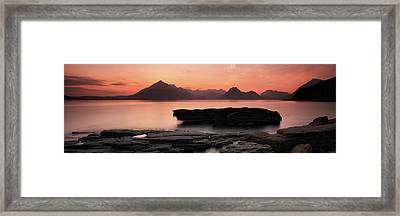 Framed Print featuring the photograph Skye Sunset by Grant Glendinning