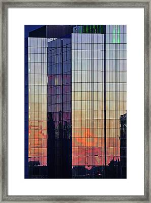 Skyscraper Sunset Framed Print