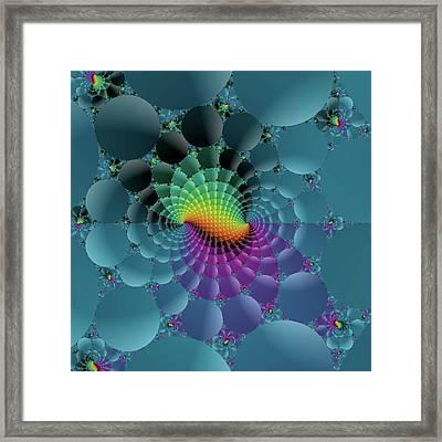 Slate Blue Fractal Framed Print