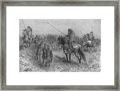 Slave Gang Of Central Africa Framed Print by Kean Collection