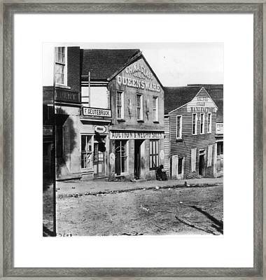 Slave Market Framed Print by Fotosearch
