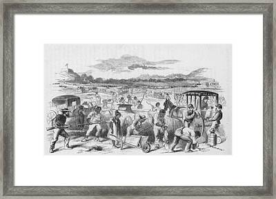 Slaves Forced To Work On Nashvillle Framed Print by Kean Collection