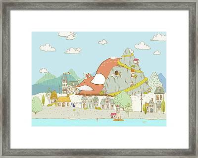 The Sleeping Fox Framed Print