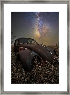 Framed Print featuring the photograph Slug Bug 'rust' by Aaron J Groen
