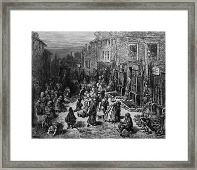 Slum Children Framed Print by Rischgitz