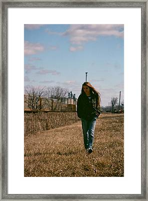 Framed Print featuring the photograph Small Town Girl by Carl Young