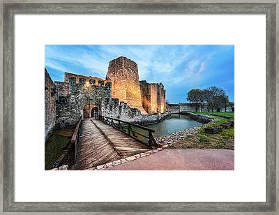 Smederevo Fortress Gate And Bridge Framed Print