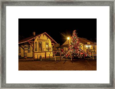 Framed Print featuring the photograph Smithville Railroad Christmas Tree by Kristia Adams