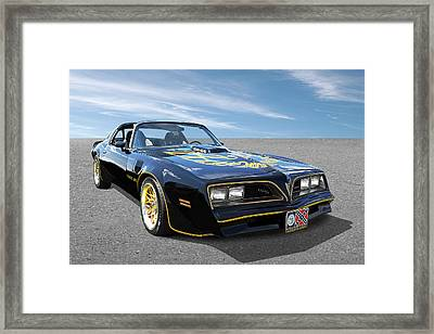 Smokey And The Bandit Trans Am Framed Print
