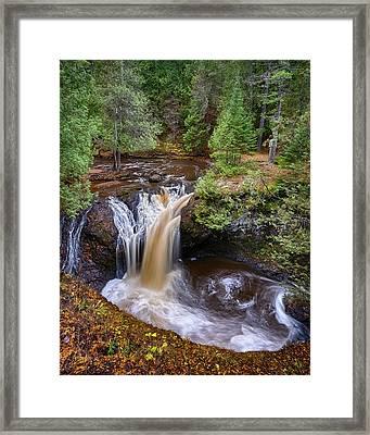 Snake Pit Falls Framed Print