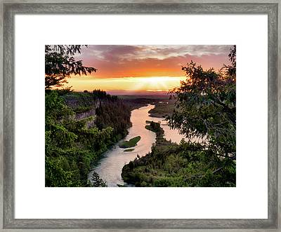 Snake River Sunset Framed Print