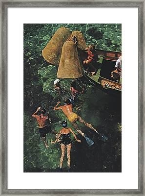 Snorkelling In Malta Framed Print