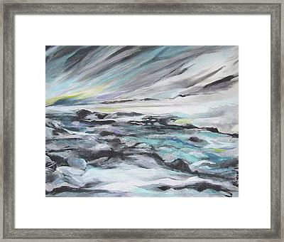 Snow Flow Framed Print