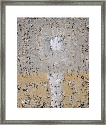 Snow Moon Original Painting Framed Print