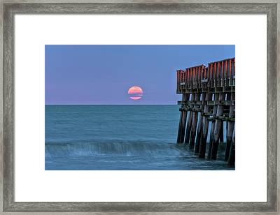 Snow Moon Framed Print