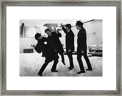 Snowball Beatles Framed Print by Central Press