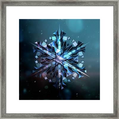 Snowflake 01 Framed Print by Mina De La O
