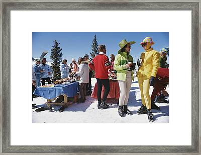 Snowmass Gathering Framed Print