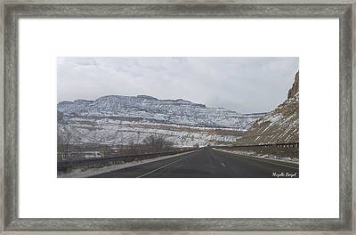 Snowy Mountain Road Framed Print