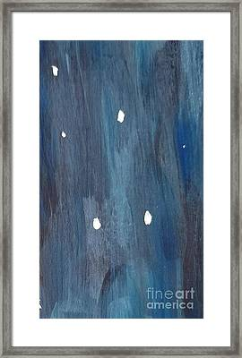 Framed Print featuring the painting Snowy Night by Maria Langgle