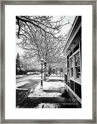Snowy Northampton, Ma, Part 1 Framed Print by JMerrickMedia