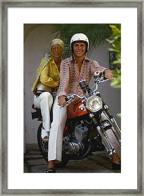 Socialite Bikers Framed Print