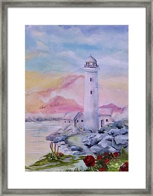 Soft Lighthouse Framed Print
