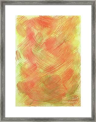 Soft Orange Colors 2 Framed Print