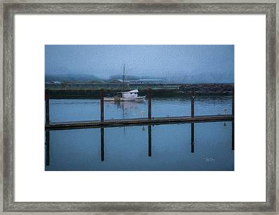 Framed Print featuring the photograph Soft Textured Bay by Bill Posner