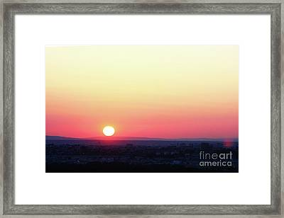 Solar Tangent Framed Print