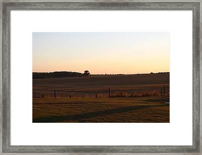 Somme Sunset Framed Print