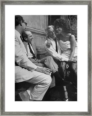Sophia Lorenvittorio De Sica Framed Print by Alfred Eisenstaedt