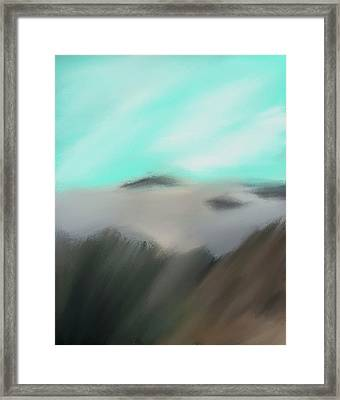 Sounion - Between The Sky And The Sea Framed Print