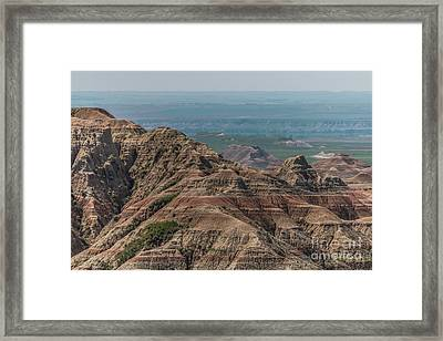 South Dakota Badlands Framed Print