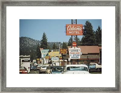 South Lake Tahoe Framed Print by Frederic Lewis