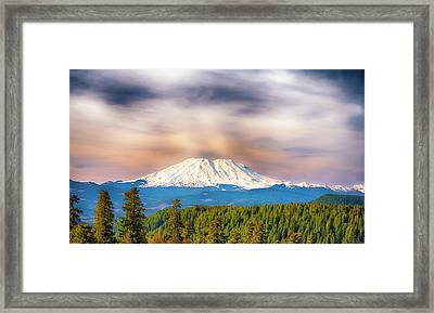 South Side View Of Mt. St. Helens Framed Print