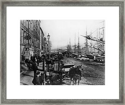 South Street Seaport New York Framed Print by Frederic Lewis